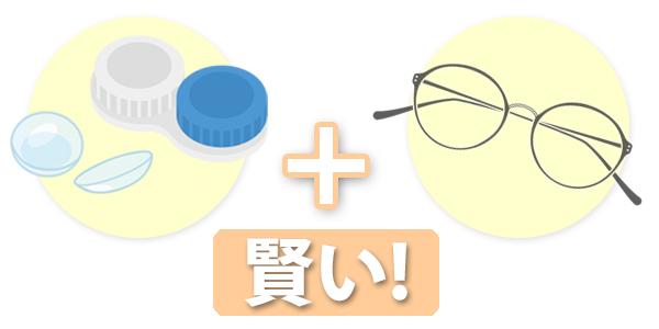 コンタクトと老眼鏡の同時仕様は賢い方法!